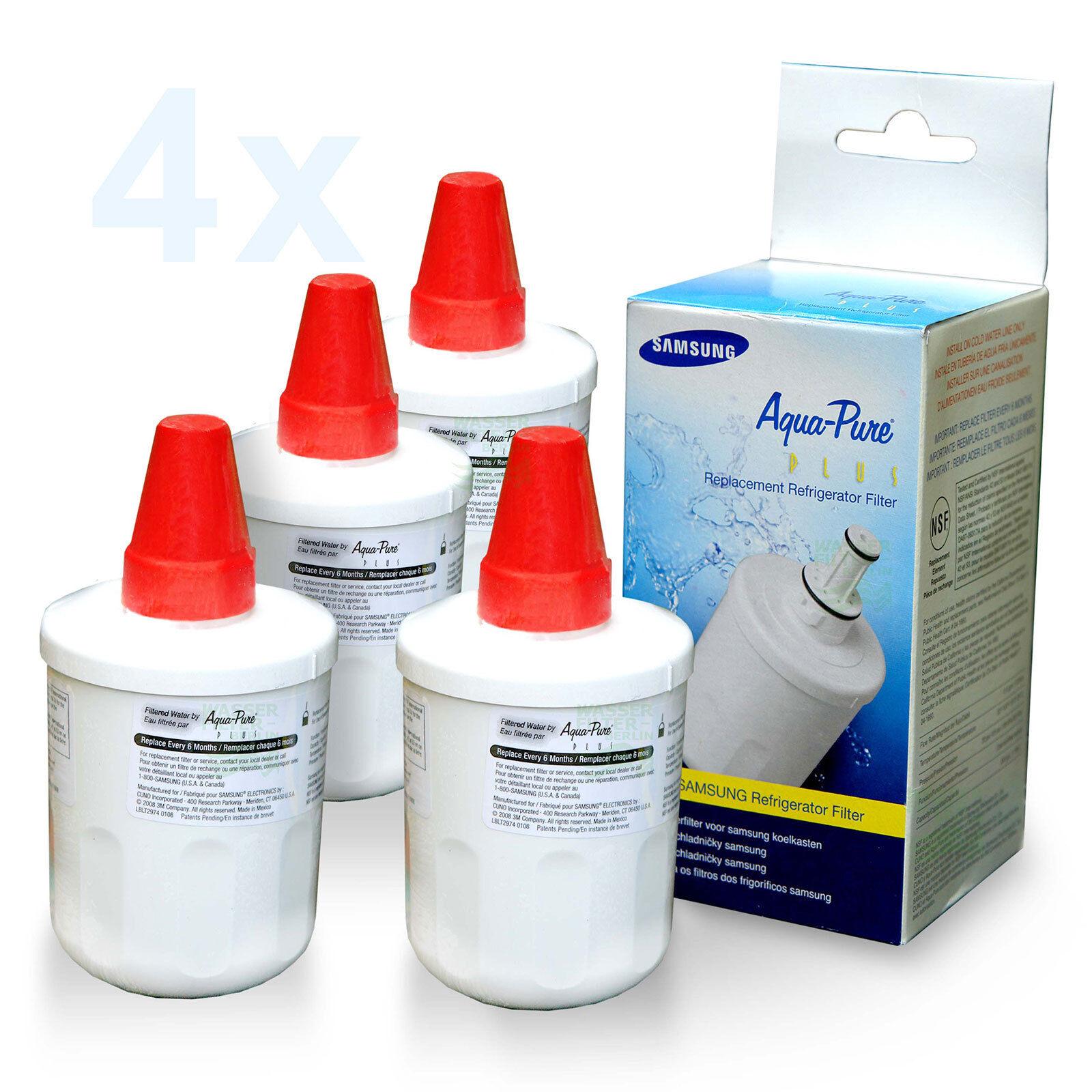 4 x SAMSUNG Aqua-Pure Réfrigérateur Filtre da29-00003g Filtre à Eau Réfrigérateur (12
