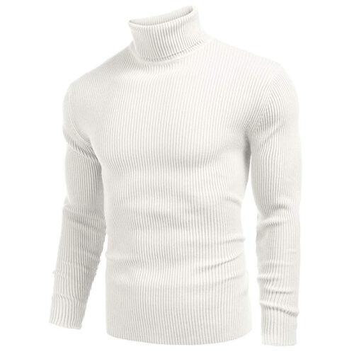 Men Winter Turtleneck Pullover Sweater Knitted Warm Knitwear Jumper Cardigans
