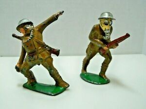 37-Collectible-Antique-Barclay-Manoil-WW1-Army-Military-Lead-Toy-Soldiers-Set