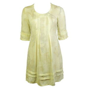 EDEN-ROCK-ITALIAN-YELLOW-100-PURE-LINEN-TIE-BACK-DRESS-Sizes-S-M-L-and-XL