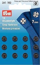 PRYM Metall Druckknöpfe zum Annähen   7mm schwarz
