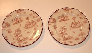 Details About 2 Wood Sons 8 Plates Dishwasher Proof Microwave Safe Made In England