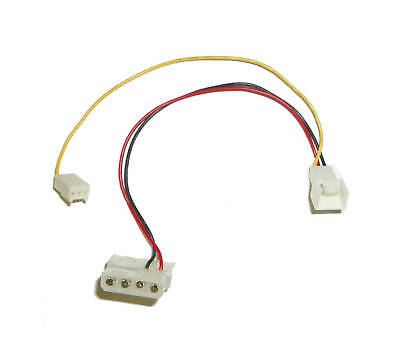 Fan Adapter Cable M//F M 2pcs TO 4PIN 6inch 3PIN