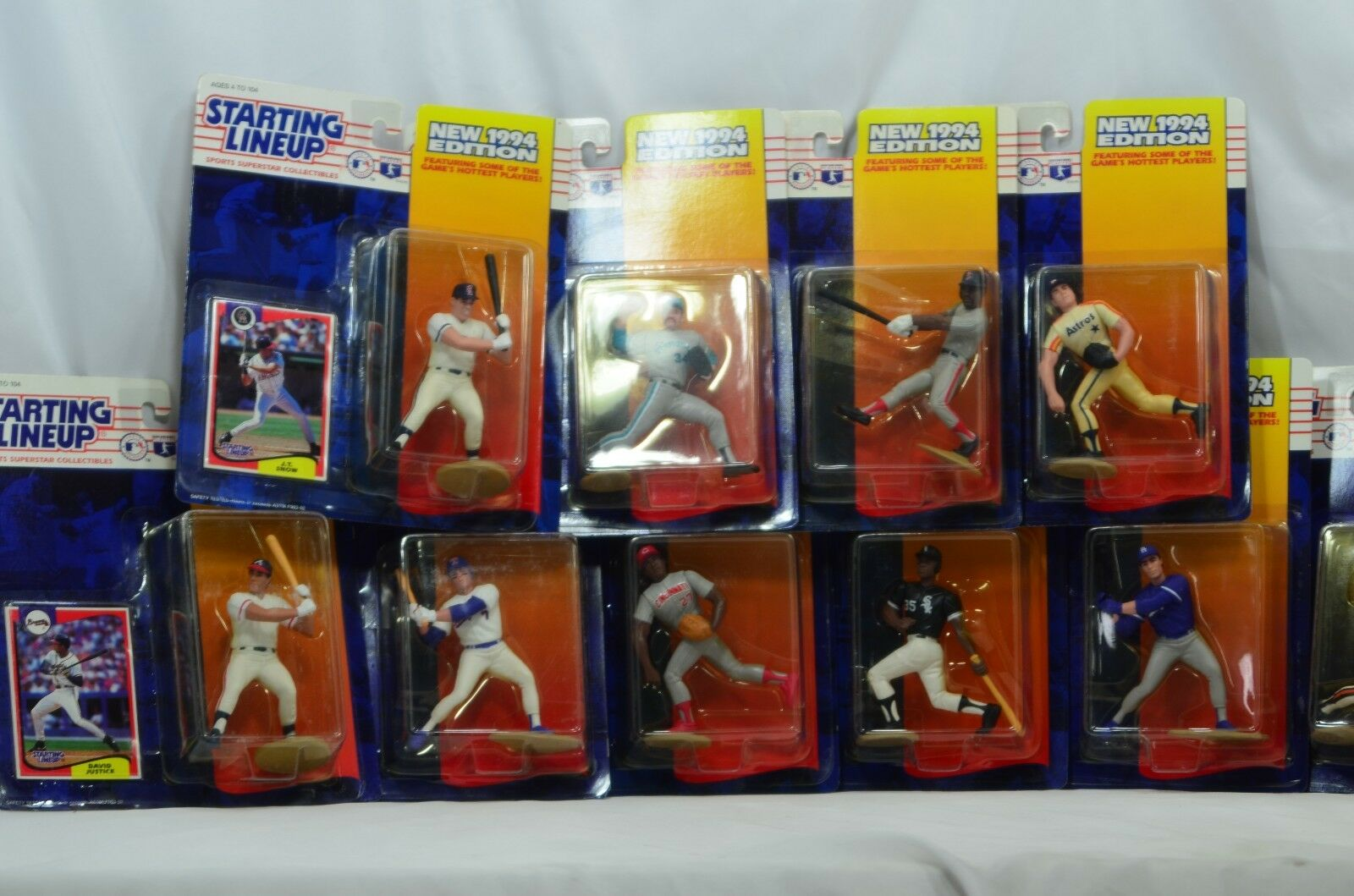 LOT of 10 New Edition 1994 Kenner Starting Lineup MLB Baseball Figures w  Cards