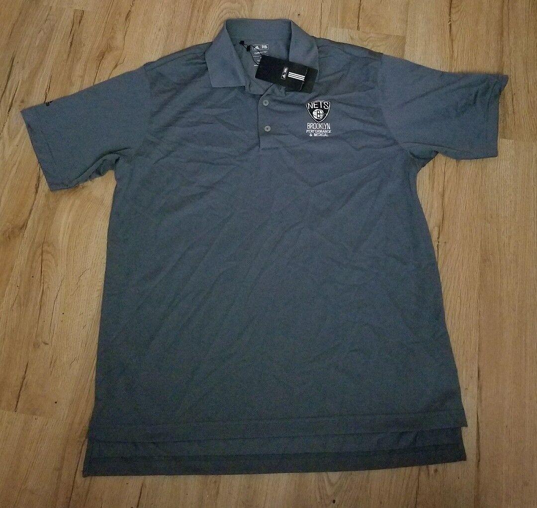 Brooklyn Nets Performance & Medical adidas Polo Shirt Uomo size-Medium NWT