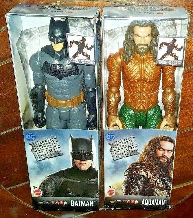 2 New DC Justice League AQUAMAN & BATMAN BATMAN BATMAN Posable Action Figures  e48ec7