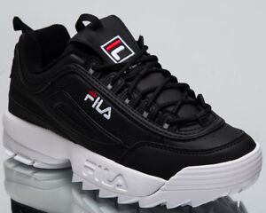 Details about Fila Women's Disruptor Low Lifestyle Shoes Black White 2018  Sneakers 1010302-25Y