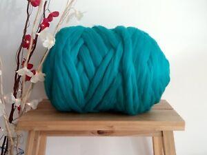 Merino Wool Turquoise Arm knit Lumbar Pillow
