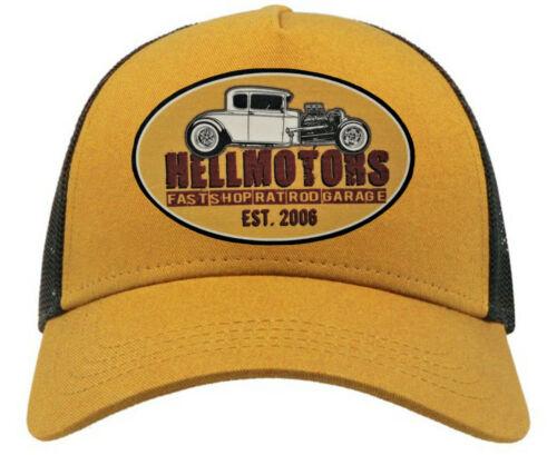 Hotrod Shop Herren Trucker Mesh Cap Oldschool US Car V8 Mütze Baseball Kappe