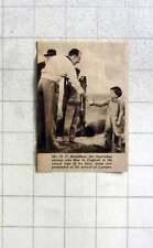 1937 Australian Airman Hf Broadbent Congratulating On Arrival At Lympne