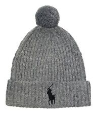 0e34a42899c item 1 Polo Ralph Lauren Men s Grey Heather Wool Blend Ribbed Cuff Pom  Beanie Hat -Polo Ralph Lauren Men s Grey Heather Wool Blend Ribbed Cuff Pom  Beanie ...