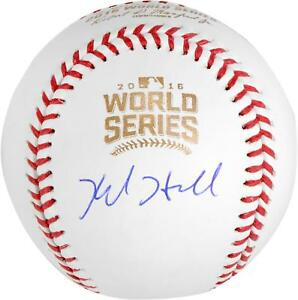 Kyle Hendricks Cubs Signed 2016 MLB World Series Baseball - Fanatics