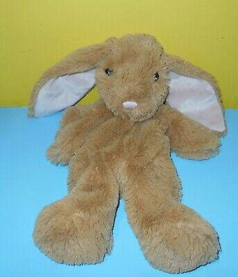 "15/"" BABW Build a Bear Soft Brown Shimmer Bunny Rabbit Pink Nose /& Ears Unstuffed"