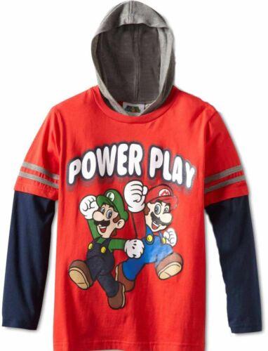Super Mario LUIGI Long Sleeve t-shirt 8 M 10-12 L New pullover hoodie Power Play