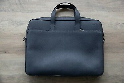 Jack Spade Mens Barrow Leather Slim Briefcase