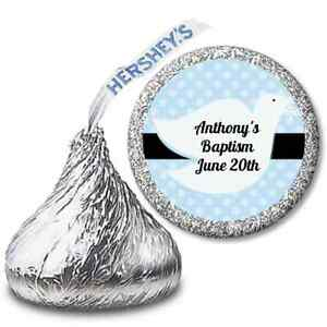 Dove-Bleu-Personnalise-Hershey-Kiss-Bapteme-Bapteme-Etiquette-autocollante-108