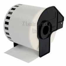 3x BROTHER DK22205 Compatibile Stampante etichette 62mm ROLL + Bobina per QL-560 QL-570