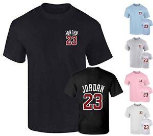 NEW-Michael-Jordan-23-Men-039-s-T-Shirt-Front-amp-Back-Print-Cotton-shirt-Top-Tumblr