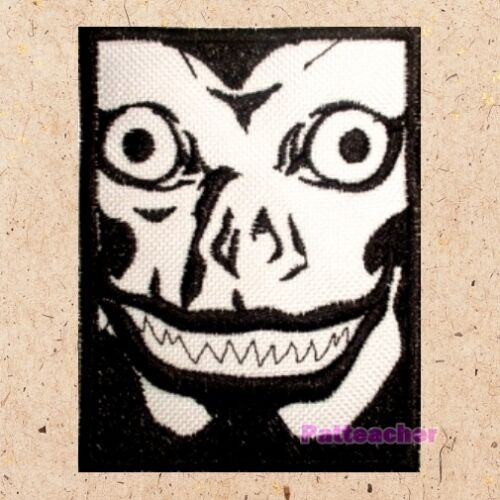 Death Note Ryuk Face Patch Manga Anime Lawlie Apple Light Yagami Embroidered