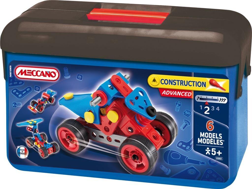 Meccano Kinder Baukasten Konstruktion Werkzeug Auto Schrauber Bastelkoffer