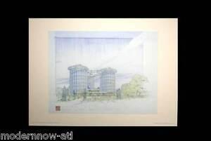 Frank Lloyd WRIGHT Lithograph #'ed LIMITED Ed 52x38cm +Custom Archival FRAMING