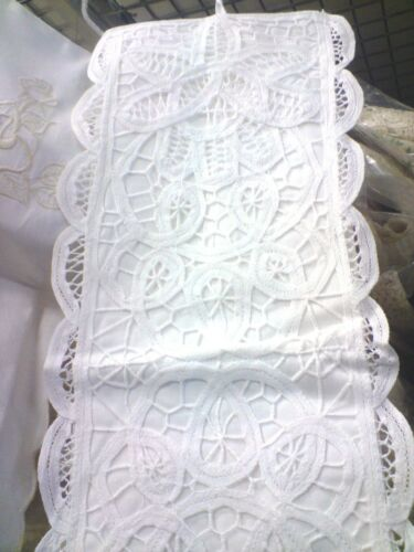 Toilet Roll holder made with beautiful White or Cream Lace,35/% cotton/& 65/% poly.