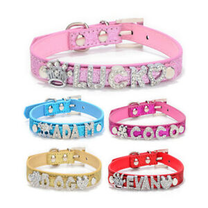 Bling-Rhinestone-Small-Cat-Dog-Collar-Personalized-Puppy-Chihuahua-Neck-Collars