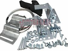 Garage Door Lock Kit w/ Spring Latch - Keyed in Handle
