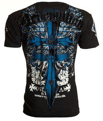 Archaic AFFLICTION Mens T-Shirt LOYALTY Cross Wings Tattoo Biker UFC M-4XL $40 a
