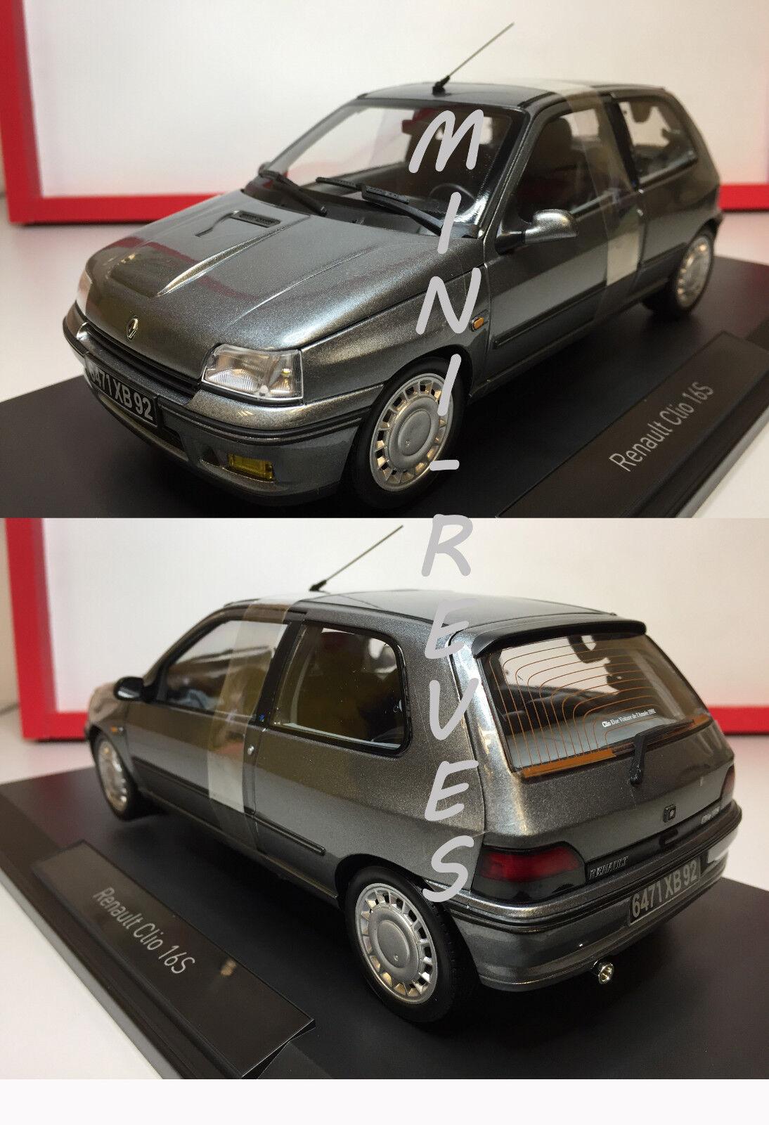 Norev Renault Clio 16s Grigia 1991 1 18 185234 17