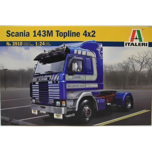 ITALERI 1 24 KIT CAMION  SCANIA 143M TOPLINE 4x2  LUNGHEZZA 24,7 CM   ART 3910