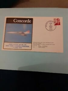 COVER BRITISH AIRWAYS CONCORDE 1ST FLIGHT BA 172 NEW YORK LONDON 1978
