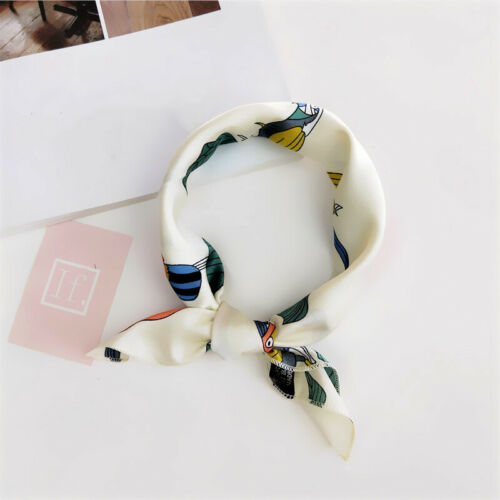 Square Scarf Hair Tie Band For Business Party Women Elegant Small Vintage Scarf