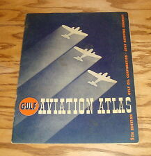 Original 1938 Gulf Aviation Atlas 5th Edition 38