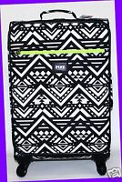 Victoria's Secret Pink Aztec Black White Carry On Wheelie Suitcase Travel