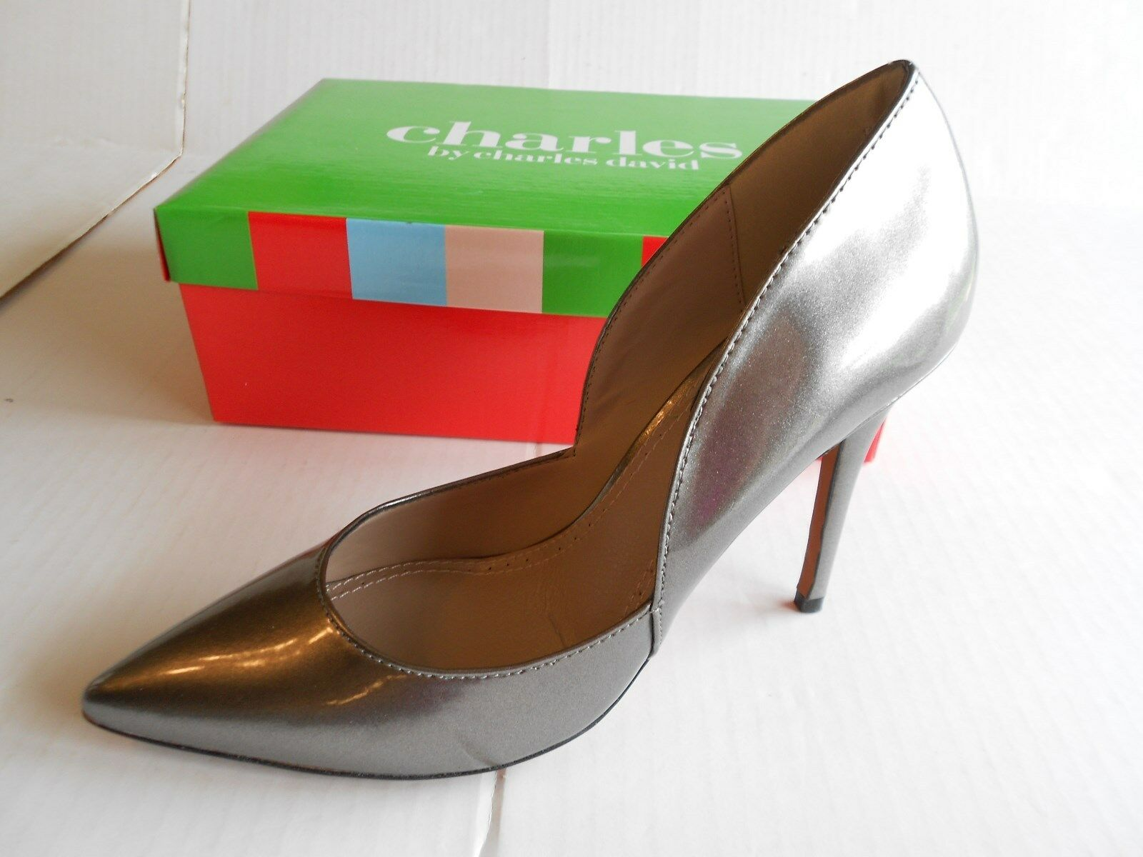 New Pointed Charles David Parker Patent Pointed New Toe Stiletto Heels Womens 9 Retail $99 23de24