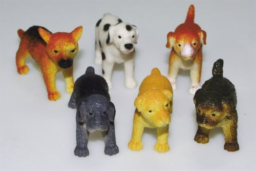 3 Plastic Dogs Birthday Cake Topper Decorations 3 Assorted Designs