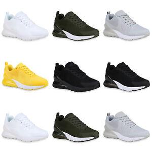 Damen-Laufschuhe-Strick-Turnschuhe-Schnuerer-Sportschuhe-Sneaker-897220-Mode