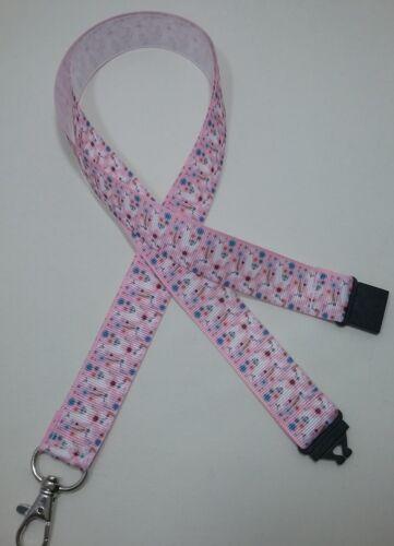 Alpaca LLAMA Suri Pink Ribbon Cordino di sicurezza Clip ID Badge Holder regalo di Natale