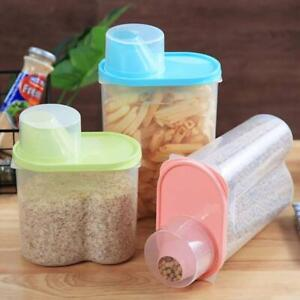 Plastic-Kitchen-Food-Cereal-Grain-Bean-Storage-Box-Container-Case-Organizer