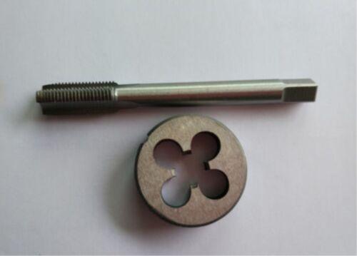 New1pc HSS M7 X 0.75mm Plug Left Tap and 1pc M7 X 0.75mm Left Die Threading Tool