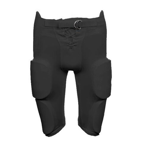 Black Game Pants with Integrated 7 Pc Pad Set Martin YOUTH Football Practice