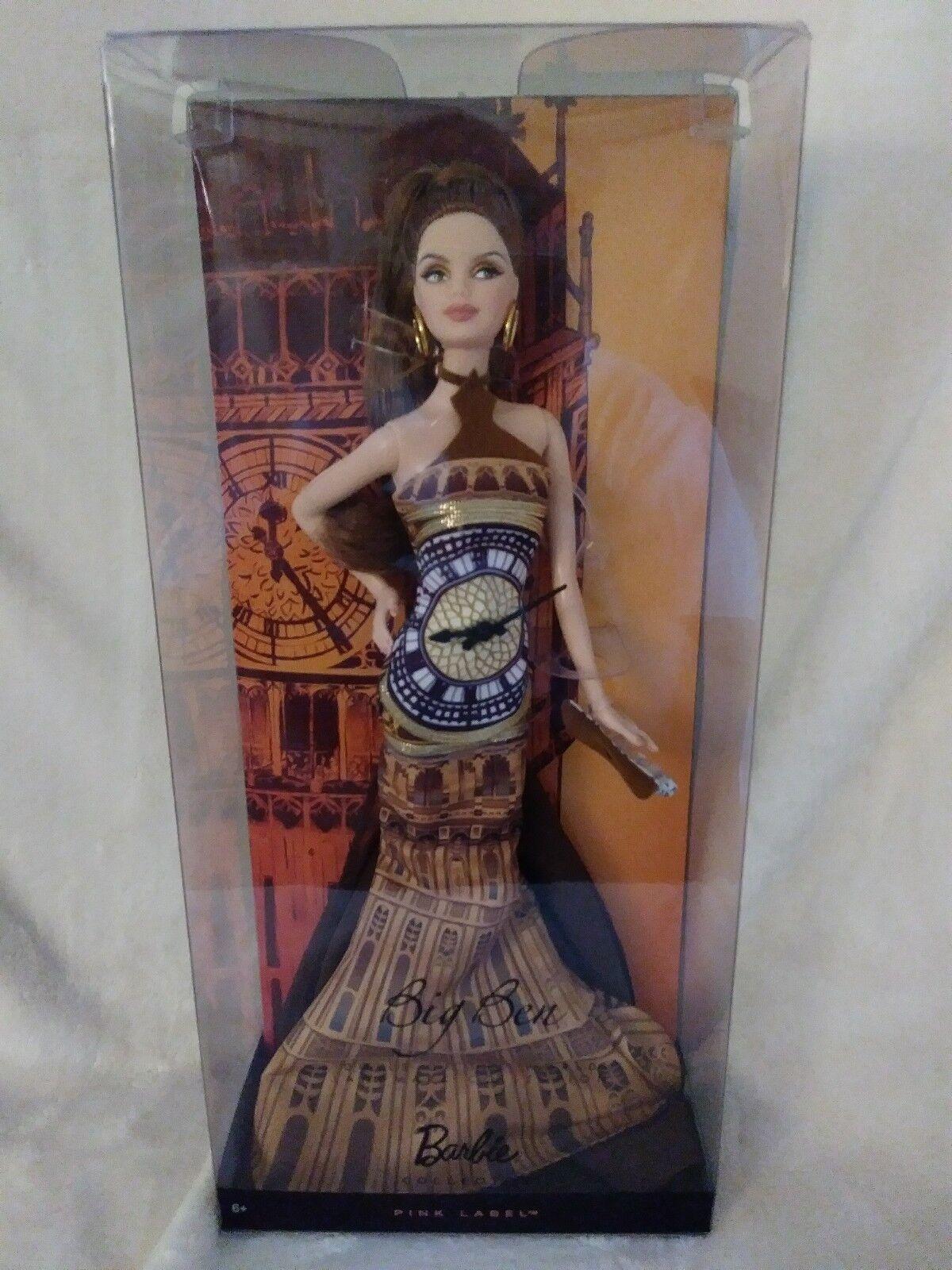 Big Ben Muñeca Barbie-Muñecas Del Mundo-Landmark Colección-rosado Label