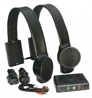 Audio Fox Wireless 2.4ghz Tv Speakers System For Personal Tv Listening / Black