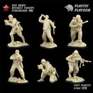 Plastica-PLATOON-SOLDATINI-ARMATA-ROSSA-le-truppe-d-039-assalto-Stalingrado-1942-1-32