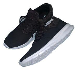 Details zu Victory sehr leichte Herren Sneaker SchwarzWeiß Größe 45 weiße Sohle