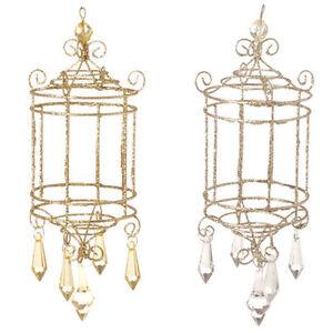 RAZ-Imports-Birdcage-Chandelier-Christmas-Ornaments-w-Acrylic-Prisms-Gold-Silver