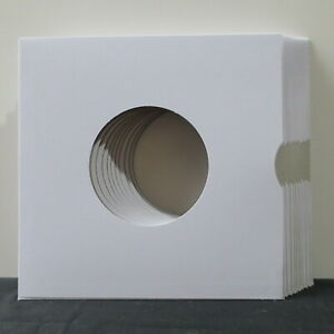 10x-White-7-034-LP-Card-Sleeves-Single-Vinyl-185x185mm-NEW