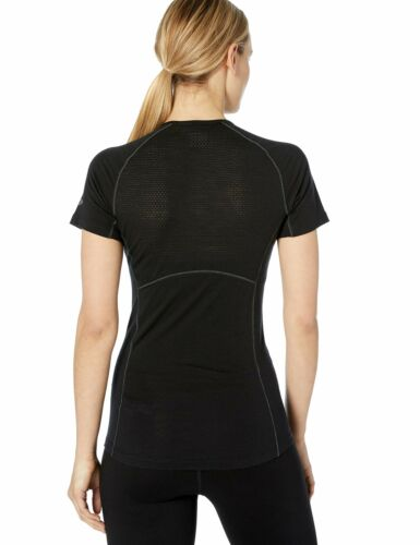 Icebreaker Merino Women/'s 150 Zone Short Sleeve Crew Neck Shirt Black//Mineral...