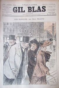 Journal-Gil-Blas-No-No-17-of-1891-Maizeroy-Drawing-Steinlein-Sheet-Music-Bunting